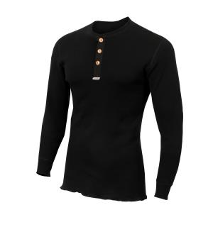 WarmWool Granddad shirt M Jet Black M